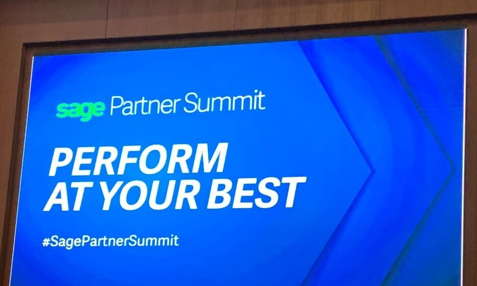 Photo of Sage Partner Summit screen