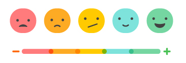 Happy to not happy scale