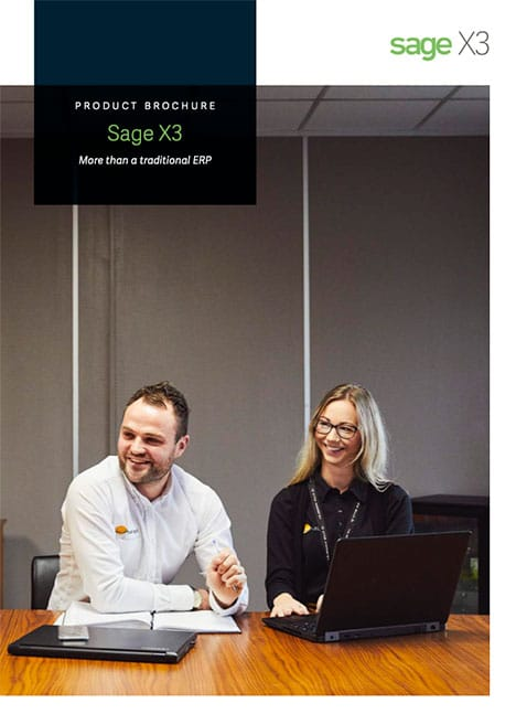 Sage X3 Product Brochure Cover