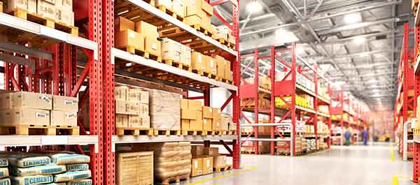 Warehouse with racking and pallets - distribution