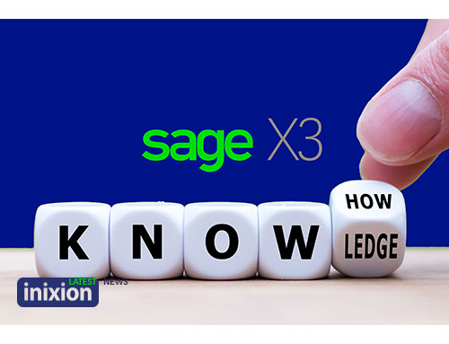 Dice forming word know-how with Sage X3 logo