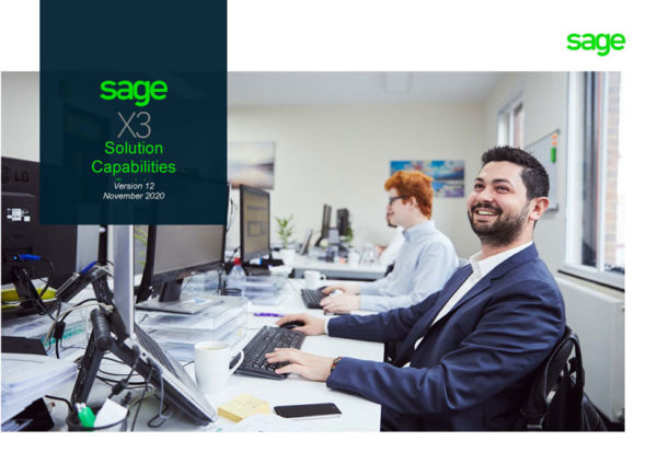 Sage X3 Solutions Capabilities Guide V12 Front Image